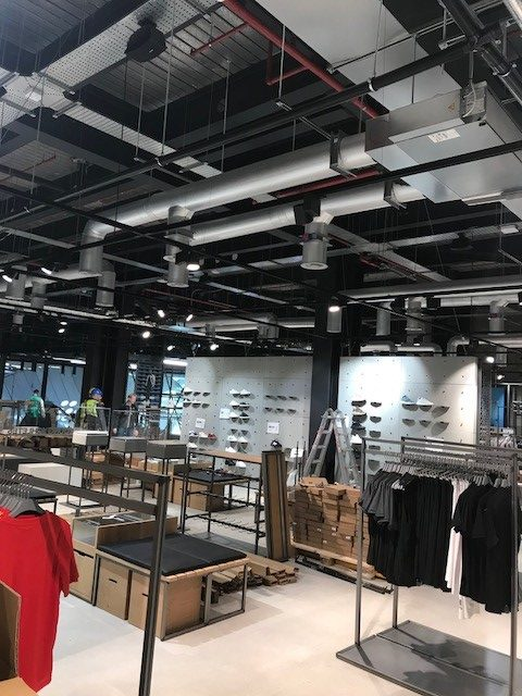 Adidas Flagship Store Westfield London  U2013 Ductwork Services